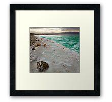 Dead Sea Blue Framed Print