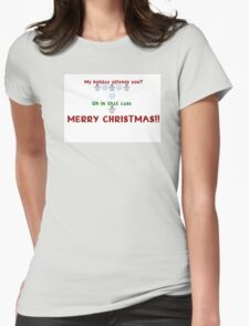 Offensive Christmas  Womens Fitted T-Shirt