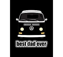 Best Dad Ever Black Photographic Print
