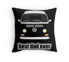 Best Dad Ever Black Throw Pillow