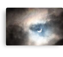 Eclipse and Rainbow Canvas Print