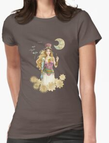 'The Key' Steam punk girl by Scot Howden Womens Fitted T-Shirt