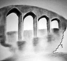 Arched Bridge (drawing) by psneena