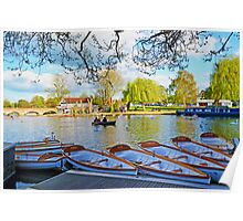 Stratford-upon-Avon by the river Poster
