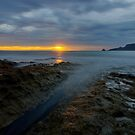 HDR - Sunrise on rocks at Adventure Bay, Bruny Island, Tasmania, Australia by PC1134