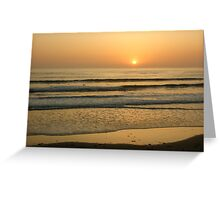 Golden California Sunset - Pacific Beach, San Diego Greeting Card