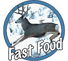 Fast Food Mule Deer Photographic Print