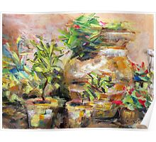 Garden Pots Poster
