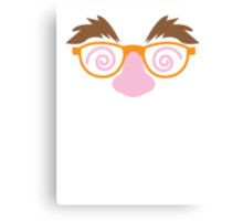 Cute April fools funny face disguise Canvas Print
