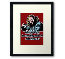 Big ebowski Philosophy 9 Framed Print