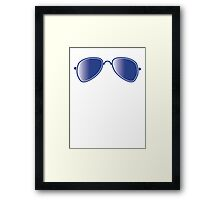 Aviator glasses cool with reflections Framed Print