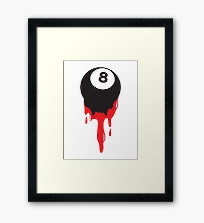 Bleeding eight ball snooker pool poker cue Framed Print