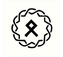 Viking Othala Rune Art Print