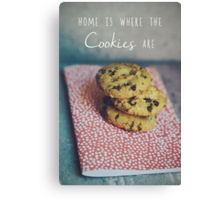 Home is where the cookies are Food typography Canvas Print