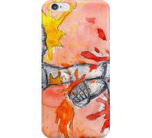 Red Painted Fight iPhone Case/Skin