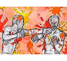 Red Painted Fight Photographic Print