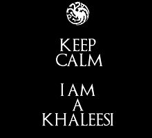 Keep Calm I am a Khaleesi by galatria