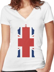 Great British Time Box Women's Fitted V-Neck T-Shirt