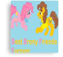 Best Brony Friends Forever  Canvas Print