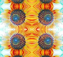 Sunflowers 9 - Design 1 by Kevin J Cooper