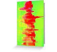 Nyc abstract skyline  Greeting Card