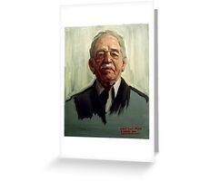Gabriel García Márquez Greeting Card