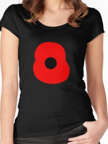 Rememberance Poppy Women's Fitted Scoop T-Shirt
