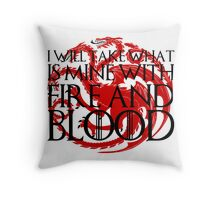 Game of Thrones - Fire and Blood Throw Pillow