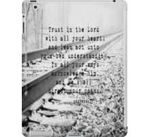 Proverbs 3:5-6 iPad Case/Skin