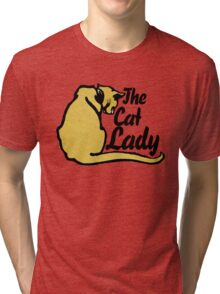 The Cat Lady Tri-blend T-Shirt