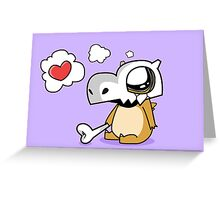 Cute Cubone Greeting Card