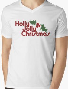 Holly Jolly Christmas Mens V-Neck T-Shirt