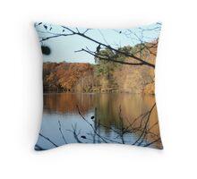 UK Autumn countryside Throw Pillow