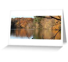 UK Autumn countryside panorama Greeting Card