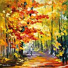 GOLDEN FALL by Leonid  Afremov
