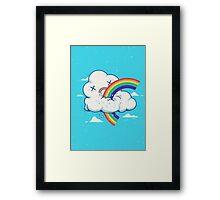 Cloud Hates Rainbow Framed Print