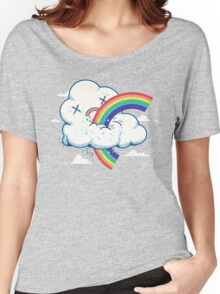 Cloud Hates Rainbow Women's Relaxed Fit T-Shirt