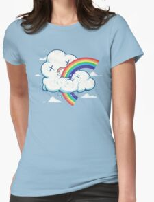 Cloud Hates Rainbow Womens Fitted T-Shirt