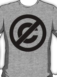 Public Domain Symbol, Copyleft T-Shirt