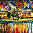 PARIS FRANCE ART INSTITUTE by Leonid  Afremov