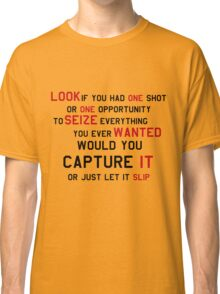 EMINEM MOTIVATIONNAL SHIRT BLACK&RED Classic T-Shirt
