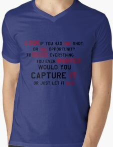 EMINEM MOTIVATIONNAL SHIRT BLACK&RED Mens V-Neck T-Shirt