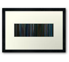 Moviebarcode: Watchmen (2009) Framed Print