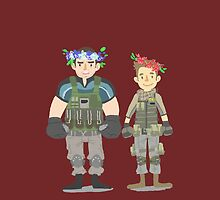 Chris & Piers flower crown by onelasttrick
