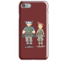 Chris & Piers flower crown iPhone Case/Skin