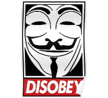 Guy Fawkes Disobey Poster