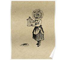 NIÑA Y CANARIO (girl and bird) Poster