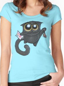 I love you, Momma-cat! Women's Fitted Scoop T-Shirt