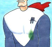 Hero with leaking pen by MarkHackett