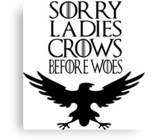 Crows before Woes Canvas Print